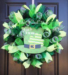 "22"" St. Patrick's Day Luck of the Irish Wreath"