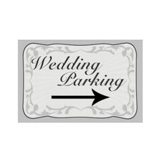 Shop Wedding Parking Sign, Directional Arrow Sign created by CustomSigns. Custom Yard Signs, Arrow Signs, Parking Signs, Corrugated Plastic, Sign Templates, Wedding Signs, Wedding Ceremony, Wedding Ideas, Christmas Card Holders