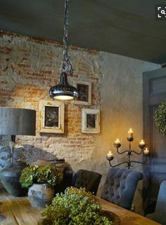 Brick plaster walls