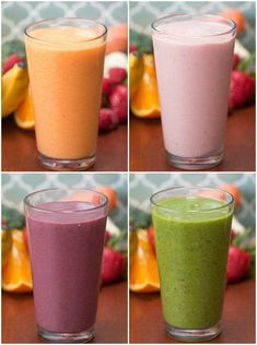 Smoothie Recipes 4 Make-Ahead Veggie-Packed Fruit Smoothies - Totally great for meal planning and prepping. Veggie And Fruit Smoothie, Veggie Smoothie Recipes, Vegetable Smoothies, Apple Smoothies, Healthy Smoothies, Healthy Drinks, Carrot Smoothie, Make Ahead Smoothies, Smoothies With Veggies