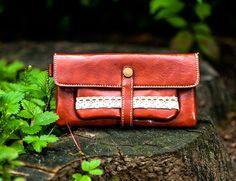 Portemonnaie Geldbeutel Brieftasche braun von Fleur Noire-Schmuckdesign by Polarkind auf DaWanda.com für 18,90 €