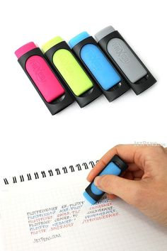When the tip of your Pilot FriXion pen isn't quite big enough for all your erasing needs, this FriXion eraser is the solution. Its rounded flat shape enables you to erase both small and large areas. Made of hard rubber, this eraser works for any FriXion pens, including FriXion gel ink pens, highlighters, and markers.