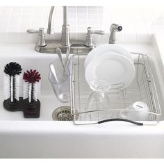 DISHRACK: In-Sink! So great. Container Store. $39.99