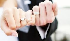pinky promise. Love this I might take one like this for my 10 yr vow renewal