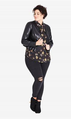 ab2474d926c Shop Women s Plus Size Frill Rider Jacket - Coats  amp  Jackets - Clothing