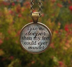 Hillsong Oceans Pendant Necklace Take me deeper by RedeemedJewelry