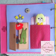 Quiet book dress up page