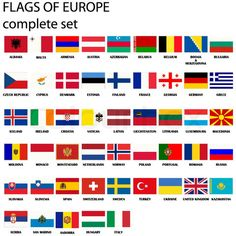 The Flags of Europe - Salty Sam's Fun Blog for Children - Post 48 Flags
