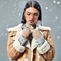Studio F Colombia Let It Snow, Let It Be, Fur Coat, Fashion Moda, Shorts, Studio, Jackets, Vestidos, Pants
