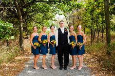 ~bridesmaids with the groom