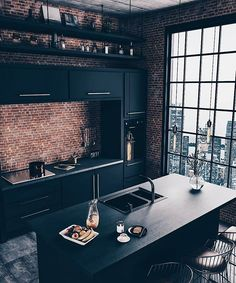 37 Top Kitchen Trends Design Ideas and Images for 2019 Part kitchen ideas; Top Kitchen Trends Design Ideas and Images for 2019 Part kitchen ideas;Home Wall Ideas Home Decor Kitchen, Kitchen Interior, Home Interior Design, Interior Ideas, Modern Interior, City Kitchen Ideas, Brick Interior, Masculine Interior, Coastal Interior