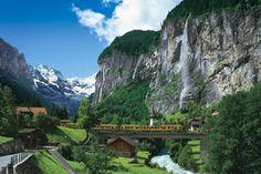 Mountain railway, Lauterbrunnen, Switzerland