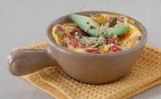 Epicure Quinoa Scramble in a mug / ramekin / mini cocotte Epicure Recipes, Gf Recipes, Side Recipes, Whole Food Recipes, Cooking Recipes, Healthy Recipes, Healthy Foods, Recipies, Yummy Eats