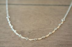 Reflection -  shimmering sterling silver everyday delicate necklace