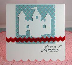 princess themed party - invitation idea