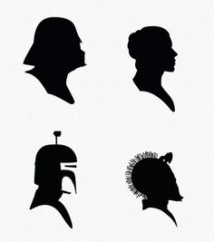printed these Star Wars silhouettes- blew them up larger size as posters; put them on paper and cut out triangle shaped pennants Star Wars Silhouette, Silhouette Clip Art, Silhouette Projects, Star Wars Logos, Star Wars Birthday, Star Wars Party, Star Wars Zimmer, Cuadros Star Wars, Star Wars Crafts