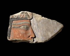 Fragment of limestone relief of King Nebhepetre. Middle Kingdom. 11th dynasty. Reign of Mentuhotep II. 2061 - 2010 B.C.   Museum of Fine Arts, Boston