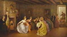 Colonial Minuet by Jennie Brownscombe (American India Landscape, Local Art Galleries, Old Paintings, Vintage Artwork, Custom Art, Canvas Art Prints, Online Art, Versailles, Painting & Drawing