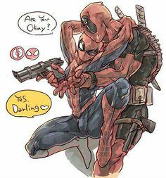 Read SpideyPool from the story Gay/ Yaoi Pics by LowBudget_FlapJack (Flapple) with reads. Spideypool, Superfamily, Marvel Art, Marvel Dc Comics, Marvel Avengers, Iron Man Capitan America, Deadpool Y Spiderman, Yuri, Sasunaru