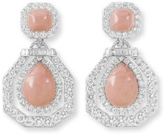 Coral and Diamond Earrings  David Webb Christie's