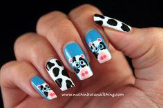 Cow Nail Art Tutorial