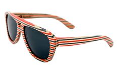 I love sunglasses made from old skateboards.
