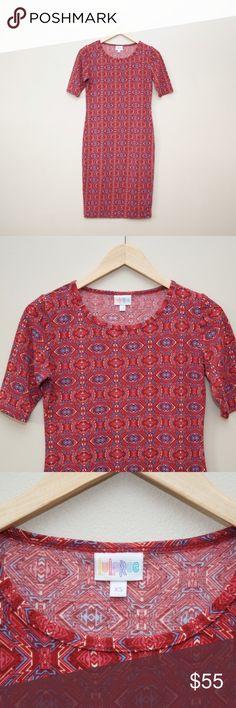 NWOT LulaRoe Julia Aztec dress ▹Size: XS  ▹Material:  96% polyester 4% spandex  ▹Condition: New without tags. LuLaRoe Dresses Midi