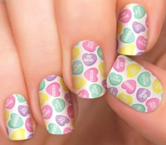 Valentine's Day Candy Nails | Incoco Heart to Heart Nail Polish Strips - Incoco