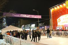 Winter Comedy Festival ice skating #tcff