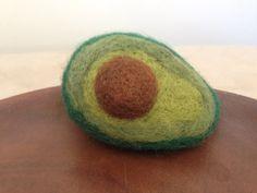 Needle felted avocado by MadeleinesToyBox on Etsy