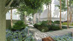 Современный сад в КП Вымпел вилла 3 - ARCADIA GARDEN Landscape studio
