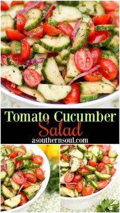 Cucumber Tomato Salad, Cucumber Recipes, Cucumber Dressing, Cucumber Salad Vinegar, Cucmber Salad, English Cucumber Salad Recipe, Grape Tomato Recipes Salad, Cucumber Snack, Cucumber Cleanse