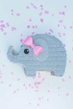 Baby elephant pinata. Perfect for gift or mini favor pinata for a baby shower…