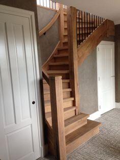 Eiken landelijke trap