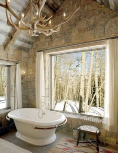 Master Bath Antler Chandelier Tile Marble Bathroom Lighting - Antler bathroom decor for small bathroom ideas