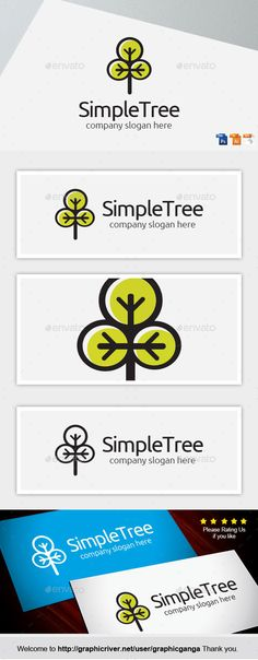 SimpleTree - Logo Design Template Vector #logotype Download it here: http://graphicriver.net/item/simpletree/8897595?s_rank=1788?ref=nexion