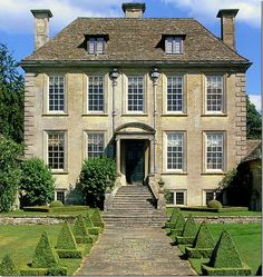 "classicalbritain: "" Nether Lypiatt Manor - The Cotswolds, England ""Nether Lypiatt is one of England's most enchanting smaller country houses. The Ashlar masonry has weathered to a richly satisfying grey, and the house has a perfect roof of Cotswold. Architecture Classique, Georgian Architecture, Classical Architecture, Fashion Architecture, House Architecture, English Manor Houses, English House, English Country Manor, French Country"