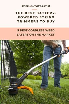 Discover Which Cordless String Trimmers are Best Cordless Power Tools, Lawn Fertilizer, Lawn Maintenance, Backyard, Patio, Fruit Garden, Cool Diy Projects, Lawn Care, How To Run Longer