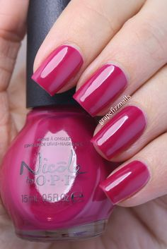 Brand: Nicole by OPI Fall Into Color Collection  Color: Berry The Hatchet  Found this on:  http://www.grapefizz.blogspot.com