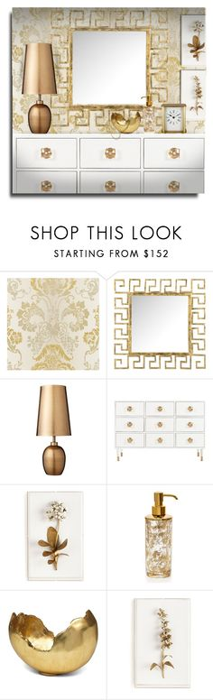 """Made of Gold - Bedroom Dresser"" by erina-i on Polyvore featuring interior, interiors, interior design, home, home decor, interior decorating, Safavieh, Lene Bjerre, Tommy Mitchell and Labrazel"