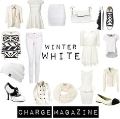 """Winter White"" by chargemagazine on Polyvore"