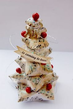 Upcycled crafty Christmas decorations