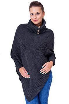 Women's Thick Heavy Poncho Jersey Turtleneck Warm Jumper Sweater Size 8 - 14 ... Fancy That Clothing http://www.amazon.co.uk/dp/B015WWUHDA/ref=cm_sw_r_pi_dp_dTFVwb0SR9GBE