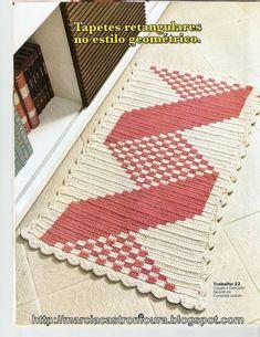 33 ideas crochet doilies free pattern graph for 2019 Crochet Mat, Crochet Carpet, Tapestry Crochet, Crochet Home, Filet Crochet, Doily Patterns, Crochet Blanket Patterns, Crochet Stitches, Crochet Tablecloth