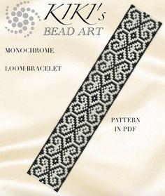 Bead loom pattern Monochrome ethnic inspired LOOM por KikisBeadArts