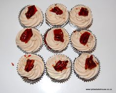 Maple Syrup & Pecan  cupcakes available at Lydiasbakehouse.co.uk