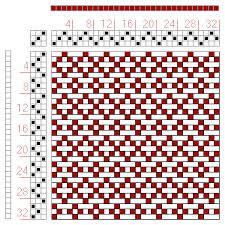 four shaft weaving patterns - Google Search
