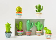 Cactus sculpture - Hand sculpted miniature plants