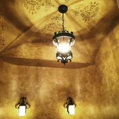 Old world Tuscan groin ceiling with stencil medallion and stenciled border. Stencil Designs, Paint Designs, Barrel Ceiling, Tuscan Design, Mediterranean Home Decor, Faux Painting, Painting Services, Old World, Stencils