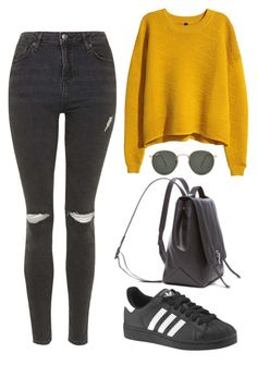 """""""Untitled #1393"""" by susannem ❤ liked on Polyvore featuring Ray-Ban, Topshop, H&M, Proenza Schouler and adidas"""